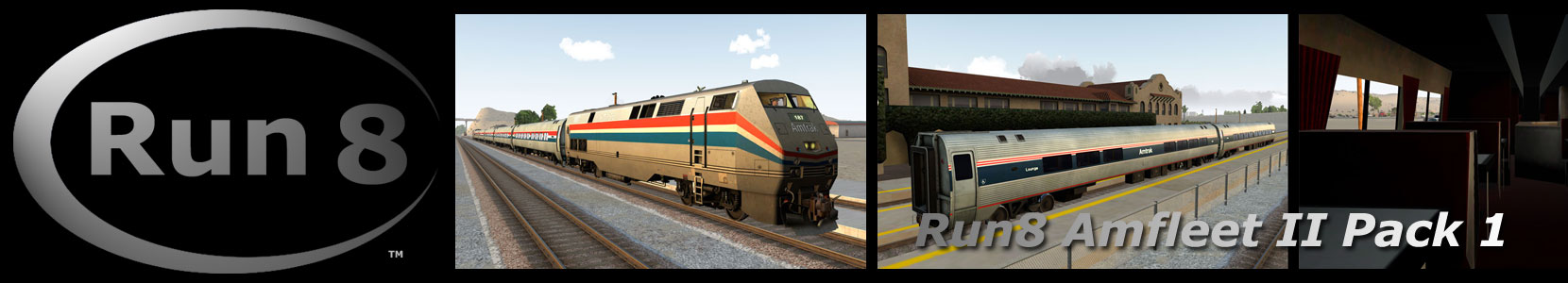 Run8 Train Simulator Amfleet II Pack 1