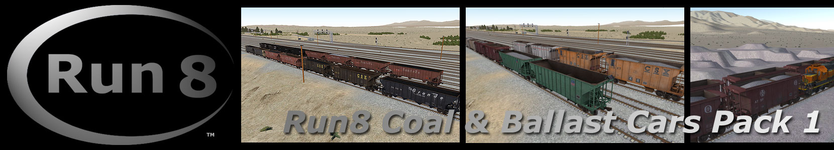 Run8 Train Simulator Open Hopper Pack 1