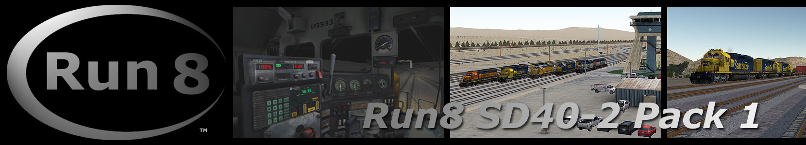 Run8 Train Simulator SD40-2 Pack 1
