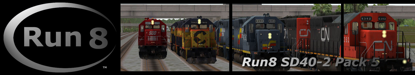 Run8 Train Simulator SD40-2 Pack 5