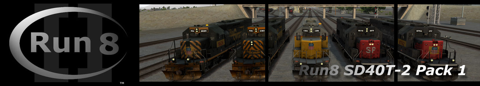 Run8 Train Simulator SD40T-2 Pack 1