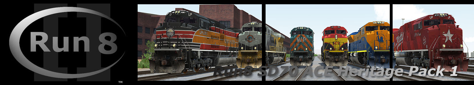 RUN8 SD70ACE HERITAGE PACK 1